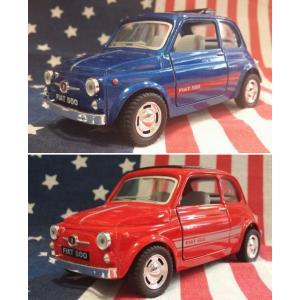 KiNSMART製 プルバックミニカー フィアット500 Fiat bluered