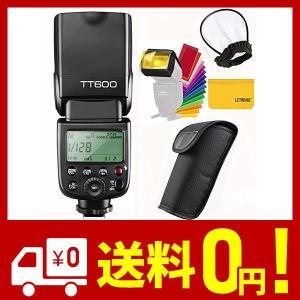 【技適マーク付き】GODOX TT600 カメラフラッシュ ストロボ 内蔵2.4G ワイヤレストリガ・システム 1/8000S高速シンクロ Canon|aiz