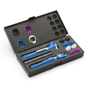 ウェルチアレン 耳鏡 眼底鏡セット  ポケットプラスLED検眼・耳鏡セット 92880-BLU スカイブルー(ハードケース付)|aizen-shop