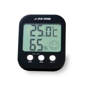 温湿度計-アズワン_カラフル温湿度計ブラックA-230-B|aizen-shop