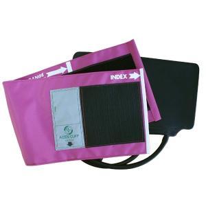 血圧計用部品・パーツ タイコス型ナイロンカフ・ゴム袋セット マゼンタ|aizen-shop