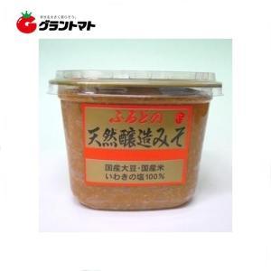 奥州ふるどの みそ【1ケース】マ ルマン醸造 天然醸造味噌 (1kg・ カップ×6個入り)【同梱不可】【 送料無料】|aizu-crops