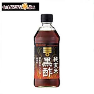 【1ケース】 純玄米黒酢  (500ml×6本入り) ミツカン 【同梱不可】【送料無料】|aizu-crops