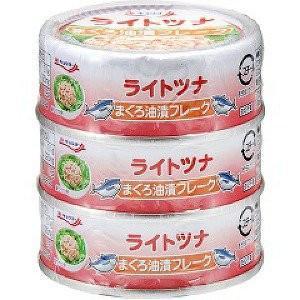 【1ケース】キョクヨー ライトツナ まぐろ油漬フレーク(70g×3缶パック)×20個入り【同梱不可】【送料無料】|aizu-crops