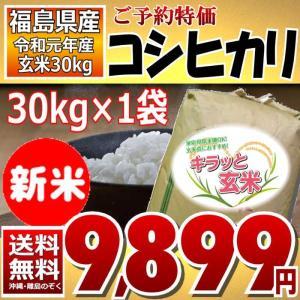【予約販売】【平成30年】コシヒカリ 30kg  キラッと玄米 福島県産 【送料無料】【価格保証クーポン付】|aizu-crops