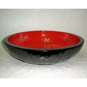 溜内朱 15.0 こね鉢 ナタメ亀甲 (そば道具 1尺5寸 木粉 日本製 直径45cm)会津漆器|aizu-sikkiya1