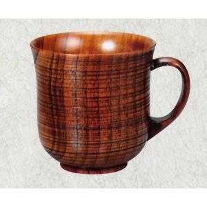 木製 スリ木目 マグカップ 単品(漆塗り 木のコーヒーカップ 父の日 母の日 敬老の日のプレゼント) aizu-sikkiya1