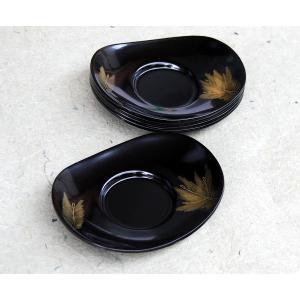 黒 4.5 小判型茶托 沈金彫 若松 5枚セット(漆塗り 落ち着いた上品な茶托 数量限定 会津塗 会津漆器) aizu-sikkiya1