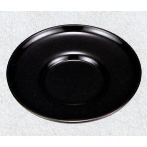 黒 4.0ダルマ型茶托 5枚セット(漆塗り 無地 シンプル茶托 会津塗 会津漆器) aizu-sikkiya1