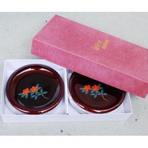 〔特価〕(玉虫)4.0渕太銘々皿「山茶花」5枚セット 光の当たる角度により色が変わる玉虫塗の銘々皿で...
