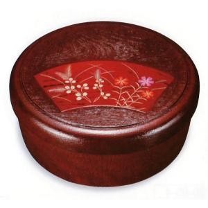 樹脂 10.5 茶櫃 武蔵野 数量限定(可愛らしい お洒落な茶びつ 花柄蒔絵 茶器入れ)|aizu-sikkiya1