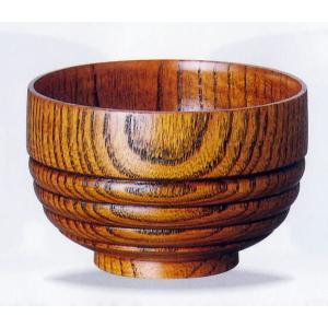 (スリ)子供用段付き汁椀 単品 木目の美しい、小さ目のくり抜きのお椀です。段が付いていいるので、持ち...