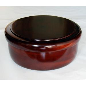 木製 本栃 10.5 くり抜き茶びつ (直径32.5cm 国産材 天然木 日本製)|aizu-sikkiya1