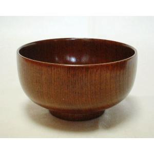 木製/漆(ケヤキ木目)5.0布袋丼 単品 木目と活かした拭き漆塗り仕上げ、天然素材ならではの木目の美...