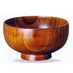 木製/漆(スリ)4.0布袋汁椀 単品 シンプルなくり抜きのお椀を、木目を活かし拭き漆塗で仕上げました...
