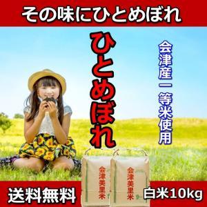 米 お米5kg×2袋 白米 1年産  純精米 会津米 ひとめぼれ 特A一等米使用  中部地方までの本州地域送料無料|aizukome
