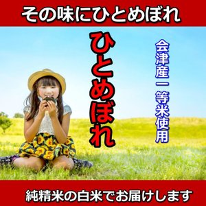 米 お米 3kg 白米 1年産  純精米 会津米 ひとめぼれ 特A一等米使用  中部地方までの本州地域送料無料|aizukome