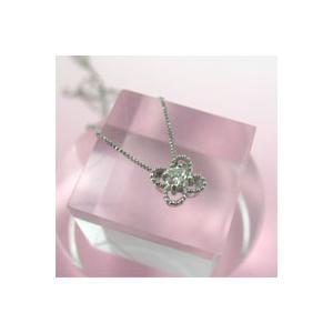 ■【K18ホワイトゴールド】ダイヤモンド・フラワー・ペンダント(代引不可) ajewelry