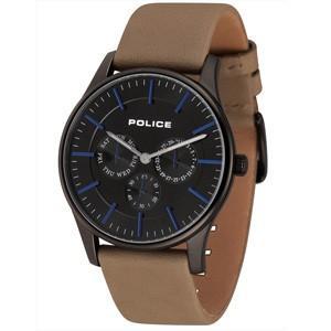 POLICE(ポリス) ウォッチ/COURTESY(コーテシー) ブラック レザーベルト 14701JSB-02(取寄せ/代引不可)|ajewelry
