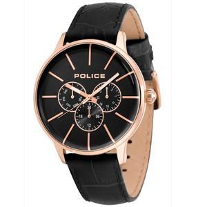 POLICE(ポリス) ウォッチ/SWIFT(スウィフト) ブラック レザーベルト 14999JSR-02(取寄せ/代引不可)|ajewelry