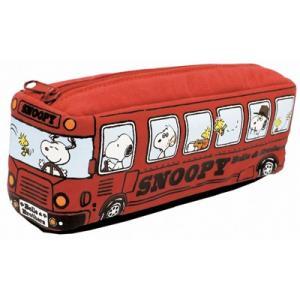 欠品/プラスト/スヌーピー バス型ポーチ ペンケース ペンポーチ レッド 2504-036(代引不可/ギフト不可)|ajewelry