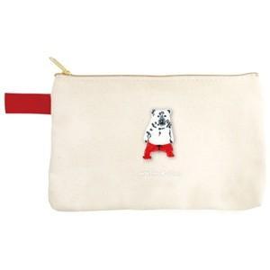 ポケファス×プラスト Pokefasu 刺繍 フラットケース/クマレス 熊 ポーチ 小物入れ 4423-039(取寄せ/代引不可/ギフト不可)|ajewelry