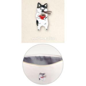 ポケファス×プラスト Pokefasu 刺繍 フラットケース/ネコじた 猫 ポーチ 小物入れ 4423-040(取寄せ/代引不可/ギフト不可)|ajewelry|02