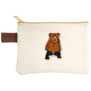 ポケファス×プラスト Pokefasu 刺繍 ティッシュケース/クマレス 熊 ポーチ 小物入れ 4423-041(取寄せ/代引不可/ギフト不可)|ajewelry
