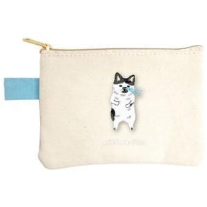 ポケファス×プラスト Pokefasu 刺繍 ティッシュケース/ネコハナ 猫 ポーチ 小物入れ 4423-042(取寄せ/代引不可/ギフト不可)|ajewelry