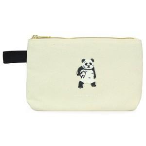 ポケファス×プラスト Pokefasu 刺繍 フラットケース/セカンドパンダ ポーチ 小物入れ 4423-052(取寄せ/代引不可/ギフト不可)|ajewelry