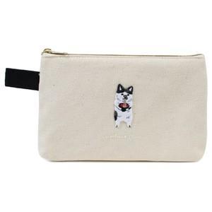 ポケファス×プラスト Pokefasu 刺繍 フラットケース/にゃんこそば 猫 ポーチ 小物入れ 4423-085(取寄せ/代引不可/ギフト不可)|ajewelry