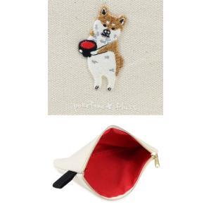 ポケファス×プラスト Pokefasu 刺繍 フラットケース/ワンモア 犬 ポーチ 小物入れ 4423-086(取寄せ/代引不可/ギフト不可)|ajewelry|02
