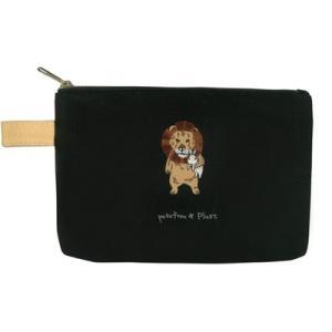 ポケファス×プラスト Pokefasu 刺繍 フラットケース/ウサギライオン うさぎ ポーチ 小物入れ 4423-144(取寄せ/代引不可/ギフト不可)|ajewelry