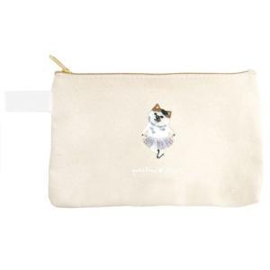 ポケファス×プラスト Pokefasu 刺繍 フラットケース/ペコネコ ねこ 猫 ポーチ 小物入れ 4423-146(取寄せ/代引不可/ギフト不可)|ajewelry