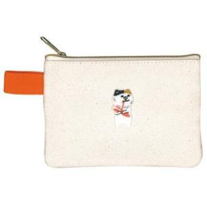 ポケファス×プラスト Pokefasu 刺繍 ティッシュケース/チビギョニネコ 猫 ねこ ポーチ 小物入れ 4423-149(代引不可/ギフト不可)|ajewelry