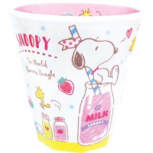 プラスト ツジセル/Wプリント メラミンカップ コップ/ストロベリーミルク 4801674(取/ギフト不可)|ajewelry