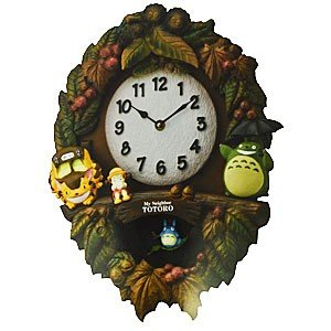 RHYTHM(リズム時計) となりのトトロ/トトロM429 振り子時計 掛時計 メロディ付き 4MJ429-M06(取寄せ・代引き不可)|ajewelry
