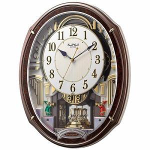 リズム時計 電波掛時計/スモールワールドアルディ からくり時計 メロディ付 4MN545RH23(取寄せ/代引不可)|ajewelry