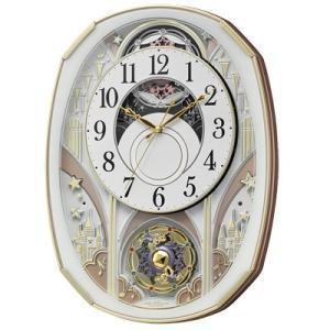 リズム時計 電波掛時計/スモールワールドノエルS からくり時計 4MN551RH03(取寄せ/代引不可)|ajewelry