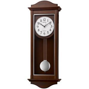 リズム時計 電波掛時計 振子時計/シューマスR 報時 木枠 4MN552SR06(取寄せ/代引不可)|ajewelry