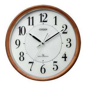 CITIZEN(シチズン)3電波対応 高感度電波掛時計 木枠 4MY860-006(取) ajewelry