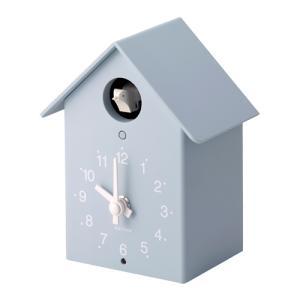 リズム時計 鳩時計 掛置兼用 ふいごカッコー/ミズイロ 水色 4RH797SR04(取) ajewelry