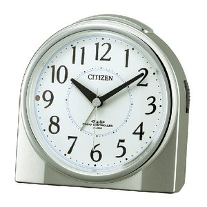 CITIZEN シチズン 電波目覚まし時計/ネムリーナリング 夜間自動点灯/シルバーメタリック色 4RL432-019(取)|ajewelry