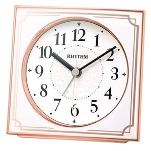 リズム時計 電波目覚まし時計/フィットウェーブA437 ピンク 4RL437SR13(取寄せ/代引不可)|ajewelry