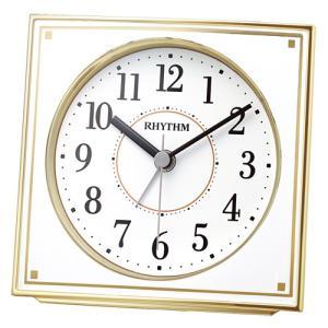 リズム時計 電波目覚まし時計/フィットウェーブA437 ゴールド 4RL437SR18(取寄せ/代引不可)|ajewelry