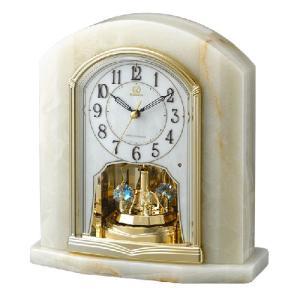 リズム時計 電波置時計/RHG-S48 オニックス枠時計 回転飾り 4RY685HG05(取寄せ/代引不可)|ajewelry