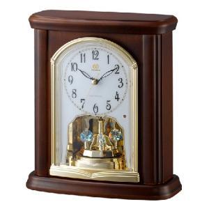 リズム時計 電波置時計/RHG-S63 回転飾り 木枠 4RY697HG06(取寄せ/代引不可)|ajewelry