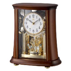 リズム時計 電波置時計/RHG-S68 回転飾り 木枠 4RY699HG06(取寄せ/代引不可)|ajewelry