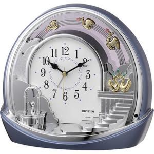 リズム時計 置時計/シルエットロマンス 443SR アラーム付き 飾り振子 4SE443SR04(取寄せ/代引不可)|ajewelry