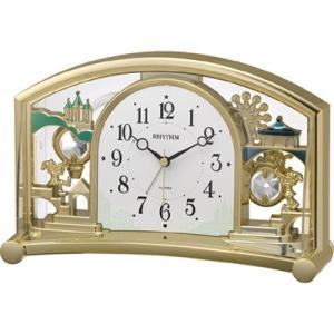 リズム時計 置時計/ファンタジーランド 540SR 飾り振子 アラーム付き 4SE540SR18(取寄せ/代引不可)|ajewelry